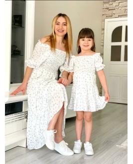 Anne Kiz Beyaz Elbise Kombin