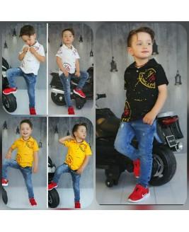 Erkek Çocuk Mncler Kot Pantolon Tişört Takim